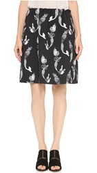 N 21 Mermaid Skirt Black White