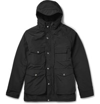Battenwear Northfield Cotton Blend Hooded Parka Black