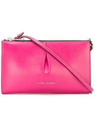 Marc Jacobs Logo Zip Crossbody Bag Pink Purple