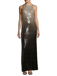 Halston Sleeveless Ombre Column Gown Black