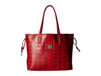Mcm Liz Medium Shopper Ruby Red Handbags