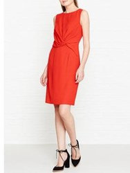Reiss Erica Knot Detail Fitted Dress Red