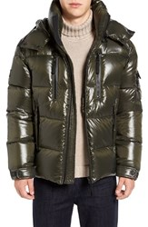 Sam. Men's Eclipse Hooded Goose Down Puffer Jacket Military