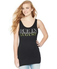 Motherhood Maternity Due Date Graphic Tank Top