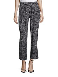 Vince Camuto Speckle Flared Ankle Length Pants Rich Black