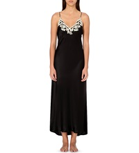 La Perla Maison Satin Nightdress Black Ivory