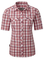 Craghoppers Chloe Short Sleeved Shirt Red