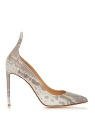 Francesco Russo Point Toe Snakeskin Pumps