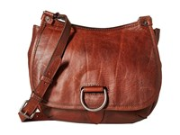 Frye Amy Crossbody Cognac Oiled Vintage Leather Cross Body Handbags Brown