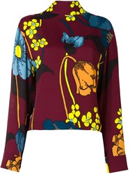 Marni Floral Print Blouse Red
