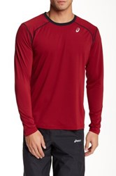 Asics Lyte Long Sleeve Shirt Red