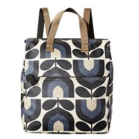 Orla Kiely Stripe Tulip Canvas Backpack Dusk Blue