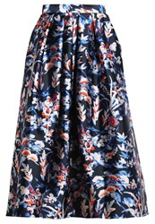 Lk Bennett Tansia Pleated Skirt Sloane Blue Multicoloured