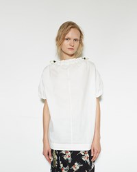 Marni Drawstring Gathered Blouse Lily White