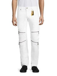 Robin's Jeans Straight Fit Moto White