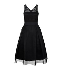 Pinko Macrame Skater Dress Female Black