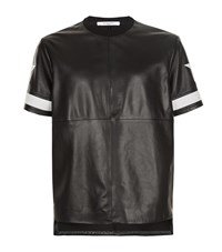 Givenchy Leather T Shirt Male Black