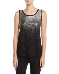 Berek Speckle Border Easy Tank Top With Lace Petite Multi