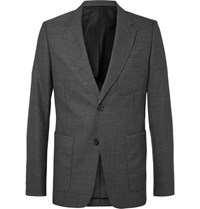 Ami Alexandre Mattiussi Grey Slim Fit Unstructured Wool Suit Jacket Gray