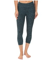 Beyond Yoga Capri Leggings Black Teal Spacedye Women's Capri Blue