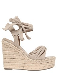 Kendall Kylie 120Mm Grayce Suede Lace Up Wedges