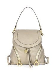 See By Chloe Olga Leather Mini Backpack Motty Grey Grenato