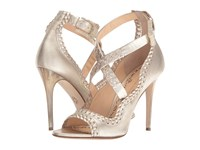 Marchesa Mae Gold Leather Women's Shoes