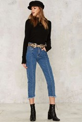 Join The Fray High Waisted Jeans Blue