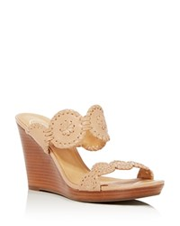 Jack Rogers Luccia Wedge Sandals Buff