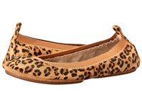 Yosi Samra Samara Calf Hair Leather Fold Up Flat Leopard Women's Dress Flat Shoes Animal Print