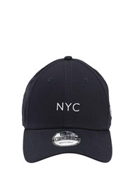 New Era Nyc Seasonal Cotton Canvas Baseball Hat Navy