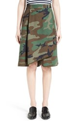 Harvey Faircloth Women's Camouflage Print Asymmetrical Skirt