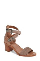 Frye Brielle Western Sandal Dusty Rose Suede