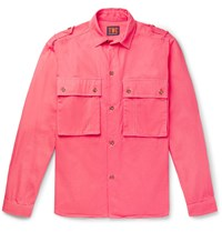 The Workers Club Cotton Twill Overshirt Pink