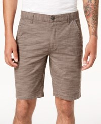 Inc International Concepts I.N.C. Flat Front Texture Stripe Shorts Warm Taupe
