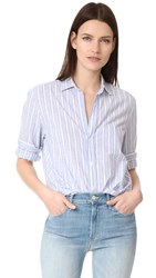 Frank And Eileen Button Down Shirt Wide Blue Stripe