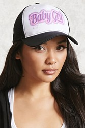 Forever 21 Baby Girl Graphic Trucker Hat Black Pink