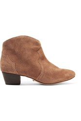 Schutz Abiha Suede Ankle Boots Light Brown