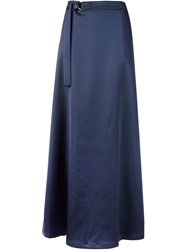 Nomia Belted Maxi Skirt Blue
