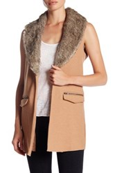 Jolt Detachable Faux Fur Collar Vest Btsc5 Butt