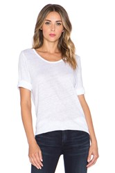 Anine Bing Boat Neck T Shirt White
