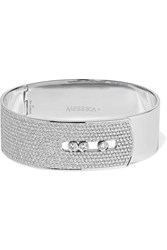 Messika Move Noa 18 Karat White Gold Diamond Bangle