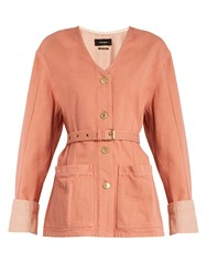 Isabel Marant Estil Cotton Denim Jacket Pink