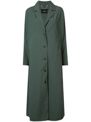 Rachel Comey Single Breasted Trench Coat Green