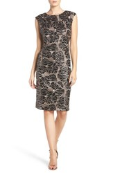 Vince Camuto Women's Embroidered Sequin Body Con Dress