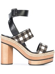 Pierre Hardy Check Open Toe Sandals Black