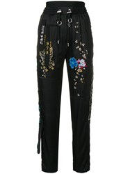 Diesel Embroidered Track Trousers Black