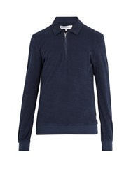 Orlebar Brown Ritson French Terry Towelling Top Navy
