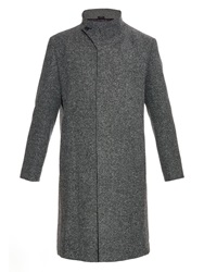 Issey Miyake Funnel Neck Wool Blend Coat