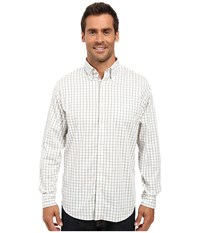 Mountain Khakis Davidson Stretch Oxford Shirt Scout Check Men's Clothing White